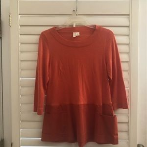 Orange 3/4 blouse